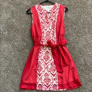 Bright pink pattered dress, perfect condition!